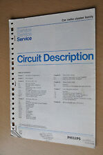 vintage service manual, Philips car radio cluster family- see list.