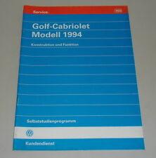 SSP 155 VW Selbststudienprogramm Service Training Golf 3 Cabriolet Cabrio 1994