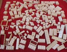 LEGO pieces *** grand job lot de (blanc) lego pièces *** total 179+ - utilisé