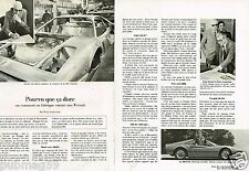 Coupure de Presse Clipping 1979 (2 pages) Comment fabrique t-on une Ferrari