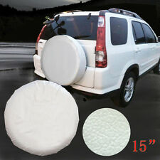 "15"" white Spare Wheel Tire Cover/Covers Fit For All Car Universal USA"