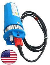 US Farm & Ranch 12V DC Solar Powered Submersible Water Well Pump 230ft Lif Blue