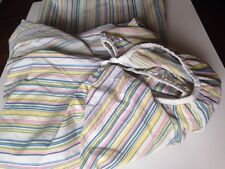Vintage Percale Perma-Prest Sheet Set Sears KING Size Fitted Flat Pastel Stripes