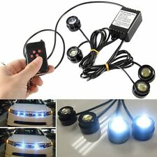 12W Car 4 LED Hazard Emergency Warning Traffic Advisor Flash Strobe Light Kit