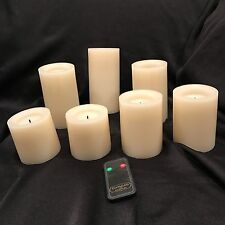 Flameless LED Candles - 7PK Remote Controlled, Realistic Wick & Vanilla Scented