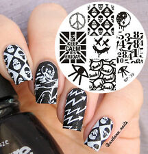 BORN PRETTY Punk Style Skull Nail Art Stamping Template Image Steel Plate #39