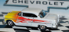 1955 55 CHEVY BELAIR 1/64 SCALE FLAMES  DIECAST CAR GREENLIGHT chevrolet car