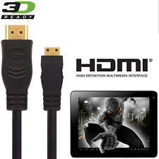ALBA 10 Pollici Tablet PC Mini HDMI a HDMI TV 5M GOLD Lunga Cord wire cable