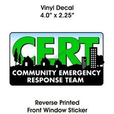 § CERT Window Sticker Community Emergency Response Team Decal Car Truck Logo US