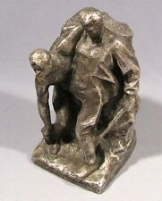 Figurine Wounded Soldier Statue Sculpture Russian Vintage Old Bronze WWII Soviet