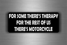 Sticker car motorcycle helmet decal vinyl chopper biker therapy