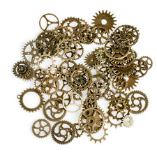 A Pack 100g Mix Antique Steampunk Cogs Gears Clock Hand Charm Pendant Alloy Hot