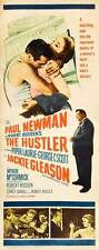 THE HUSTLER Movie POSTER 14x36 Insert Paul Newman Jackie Gleason Piper Laurie