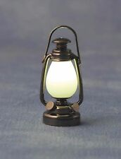 1/12TH SCALE DOLLS HOUSE LED METAL ANTIQUE STYLE LANTERN  WITH BATTERY