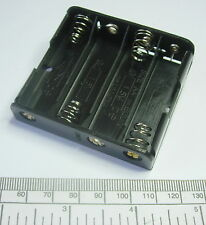 Battery holder for 4 X 'AA' (UM-3) cell - with pins for PCB mounting