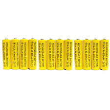 12 pc AA 900mAh Ni-Cd  Ni-Cad 1.2V Rechargeable Battery RC Solar Yellow US Stock