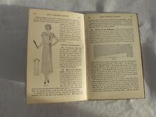 "VINTAGE 1920's WOMANS INSTITUTE ""FIRST STEPS DRESSMAKING"" NEEDLEWORK SEWING BOOK"
