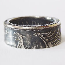 Germany Third Reich Silver Coin Ring 5 Mark Jewelry Size 8