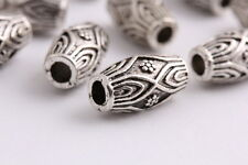 20 pieces Tibetan silver Spacer Oval beads tube Bracelets necklaces Charms 14mm