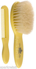 Kent Small Cream Natural Bristle Baby HAIR BRUSH & COMB SET For Baby/Babies BA28