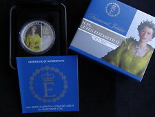 2012 1OZ FINE SILVER PROOF MULTICOLOR AUS $1 COIN BOX'S + COA  DIAMOND JUBILEE