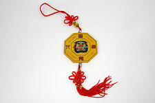 Bagua Eight Triagrams Mystic Knot Mirror Hanger Red Tassel Feng Shui