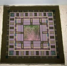 Stained Glass Look Tapestry Pillow Top Fabric Piece