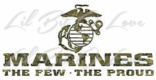 CAMOUFLAGE MARINES THE FEW THE PROUD EGA VINYL DECAL DIGITAL MARINE CAMO USMC