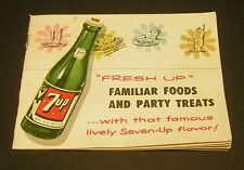 Vintage 7up 1953 Recipe Booklet