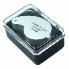 New Mini Illuminated 40X - 25mm Jewelers Loupe / Magnifier with LED Lights Tools