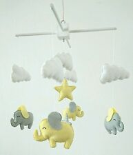 Elephants and clouds nursery mobile