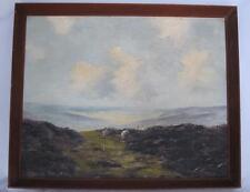 Lewis Creighton pintura al óleo originales ovejas en Clásico anegadizos escena Pickering