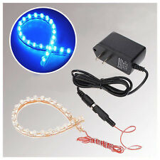 Blue 24 LED Strip Aquarium Fish Tank Flexible Waterproof Light Lamp Submersible
