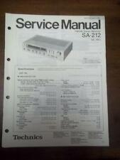 Technics Service Manual for the SA-212 Receiver~Repair~Original