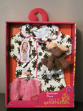 "American Our Generation Flannel Goodnight Moose Pajamas Clothes 18"" Doll Girl"
