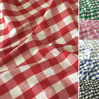 "1"" Gingham Check Polycotton Fabric Dress, Craft per Metre - 45"" - 114cm Wide"