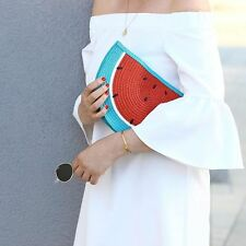 South Beach Designer Ladies Watermelon Beach Clutch Bag Summer Holiday Evening