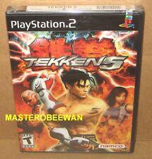 PS2 Tekken 5 Original 1st Print Black Label New Sealed (Sony PlayStation 2, 2005