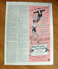 1954 Movie Ad Walking My Baby Back Home O'Connor Leigh