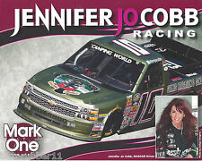 "2014 JENNIFER JO COBB ""ARLINGTON /MARK ONE"" #10 NASCAR CWTS TRUCK POSTCARD"