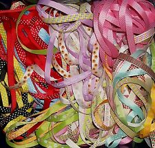 10 meters of 10mm wide Grosgrain Ribbon Random Patterned Off Cuts Bundle