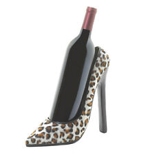 Leopard High Heel Shoe Wine Bottle Holder