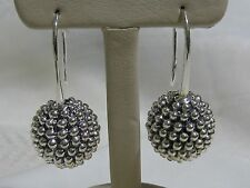 Designer LAGOS S/S Caviar Beaded Ball Drop Earrings