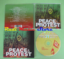 CD PEACE & PROTEST compilation 2001 BYRDS DONOVAN MARVIN GAYE (C28) no mc lp vhs