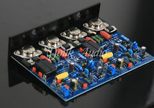Assembled QUAD405 2.0 channel amplifier board with aluminum angle MJ15024