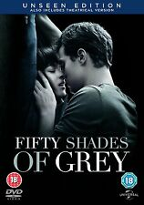 FIFTY ( 50 ) SHADES OF GREY  UNSEEN EDITION BRAND NEW SEALED UK DVD