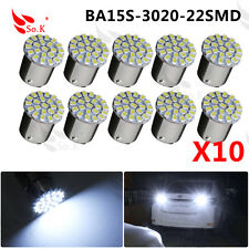 10x BA15S 1156 382 P21W White 22SMD LED Car Reverse Tail Brake Signal Light Bulb