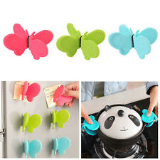 2PCS Butterfly Shaped Silicone Anti-scald Devices Kitchen Home Tool Hot Sale New