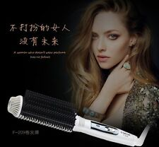 electric Hair comb straightener hair curler Auto thermostab volume ceramic comb