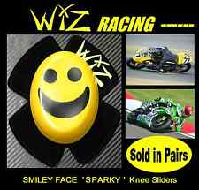 WIZ SPARKY BLACK-YELLOW SMILEY KNEE SLIDERS